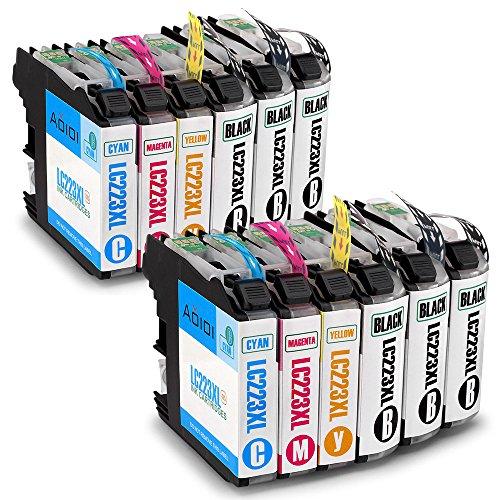 Aoioi 12er-Pack Kompatibel für LC223 Brother Patronen, Hohe Kapazität Arbeiten mit Brother MFC-J5320DW DCP-J4120DW MFC-J480DW MFC-J4420DW MFC-J5620DW MFC-J5720DW MFC-J4620DW DCP-J562DW Drucker