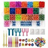 Xpizo Loom Bänder Set Rainbow Gummibänder (6800 Stück)
