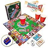 DRINK-A-PALOOZA Brettspiel: verbindet 'old-school' + 'new school' trinkspiele & Erwachsene Spiele mit Bier Pong, Flip Cup Könige Kartespiel & die besten Party-Spiele für Erwachsene