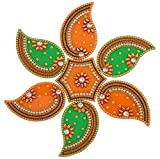 #9: One Roof Store Acrylic Rangoli Set (12 cm x 11 cm x 3.2 cm, Set of 7)