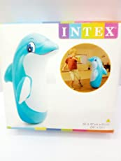 Intex Hit Me Intex Children'S Kids Cartoon Inflatable 3D Punching Bop Bag - Toy Gift For Age 3+