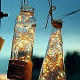 100 LED Guirlandes Lumineuses à Piles, Etanche IP65, 6 M Câble en Cuivre, Télécommande & Minuteur, 8 Modes de Fonctionnement, Blanche Chaude