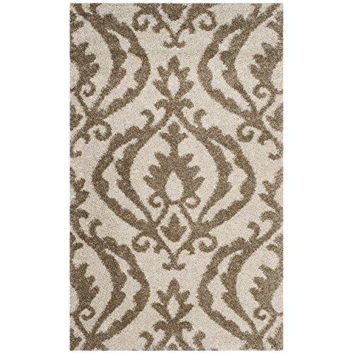 Safavieh Shag Collection sg469–1113creme und beige Bereich Teppich, 3'7,6cm X 5' 7,6cm