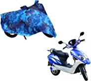 Auto Pearl 100% Water Proof Ocean Blue Bike Body Cover with Mirror Pockets, Buckle Belt, Carry Bag for - Lohia Fame