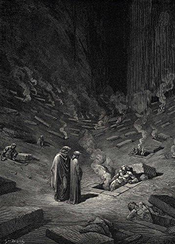 Poster (A3) von Gustave Doré,Diese sind alle Ketzer und all jede folgen ihrer Sekte aus Dantes Göttliche Komödie - Inferno, 250 g/m², glänzend
