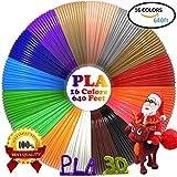 dikale 3D Stift Farben PLA - 16 Farben 12.2 M, 3D Stift Nachfüller 1,75mm für 3D Stift, 3D Drucker, Kompatibel mit ODRVM, Canbor, Uvistare, Sunlu, PLUSINNO, QPAU, Lovebay, Juboury, Nexgadget 3D Pen