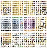 WOSON 28 Blätter Whatsapp Emoji Sticker Removable Tagebuch Sticker 1.5cm Durchmesser 1300 Stück für Decal Brief Wand Phone Sticker Labels Laptop Dekor (28 Blätter - 1300 Stück) Vergleich