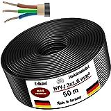 Câble d'alimentation de 5 m, 10 m, 20 m, 25 m, 30 m, 40 m, 50 m ou 100 m NYY-J 3x1,5 mm² câbles électriques pour pose en plei