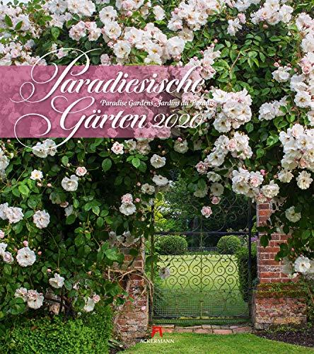Paradiesische Gärten 2020, Wandkalender im Hochformat (48x54 cm) - Gartenkalender mit Monatskalendarium