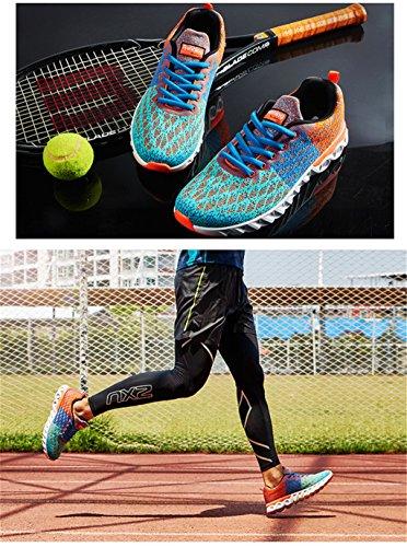 Scarpe da corsa uomo Uomo Scarpe da tennis traspirante ultraleggeri Scarpe da corsa Scarpe da passeggio all'aperto Arancione