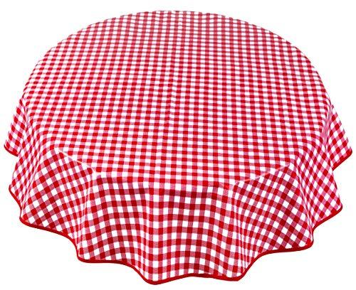 Home Direct Nappe Toile cirée PVC Ronde 140 cm Rouge