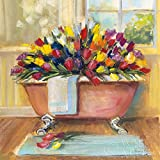 The Poster Corp Carol Rowan – Bathtub Bouquet II Fine Art Print (30,48 x 30,48 cm)