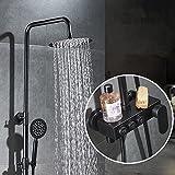 Schwarz Luxus Schwarz Messing Dusche Set Mit Bidet Dusche Drücken Knopfsteuerung Smart Schwarz Dusche Wasserhahn Badewanne Dusche Mixer