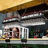 YAN JUN Kreative Rotwein Becherhalter hängen Glas Rotwein Becherhalter Bar Dekoration, Exquisite einfach zu Becherhalter Länge 60/80/100 / 120cm zu nehmen (Farbe : SCHWARZ, größe : 80cm)