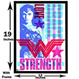 #9: WB Official Licensed Wonder Woman Typography Poster By Happy GiftMart A3+ 13 x 19 Frame