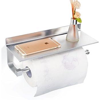 Gricol Rollenhalter Wandrollenhalter Für Küchenkrepp Ohne Bohren,  Patentierter Kleber + Selbstklebender 3M Kleber, Aluminium, Matte Finish,  ...