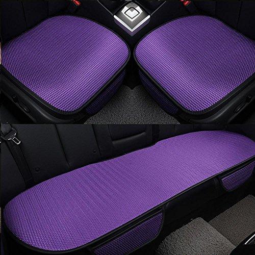 NACHEN Coussins de sièges d'auto 3 pièces Brosses de sécurité Coussin de siège intérieur Tapis de tapis All Seasons for Auto Car Supplies Chaise de voiture, purple