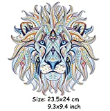 #6: iDream Iron on Patches Lion, Iron Embroidery Appliqué Decoration DIY Patch for Jeans Clothing etc