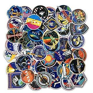 OJVVOP NASA Astronaut Sticker Pack 49Pcs PVC-Aufkleber Können Kostenlos DIY Keine Notwendigkeit Zu Schneiden