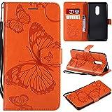 Hoesje voor Xiaomi Redmi Note 4 / Note 4X Portemonnee-etui, Magneet Flip Wallet Slim Beschermende met Kaarthouders slots Telefoonhoes voor Xiaomi Redmi Note4/Note4X - JEKT042614 Oranje
