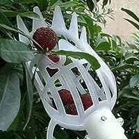 Fenghong Herramienta de recolección de Frutas, Recogedor de Frutas de plástico Catcher Jardinería Granja Jardín Herramientas para Dispositivos de recolección Blanco