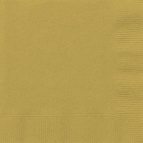 Unique Party Supplies Papierservietten, 16,5 cm, Gold, 50 Stück