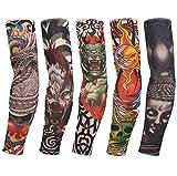OO LaLa Ji Unisex 4 Pcs New Elastic Tattoo Sleeve Designs Body Arm Stockings Tattoos for Cool Men / Women