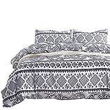 Bettwäsche Set 155x200 2 Teilig African Style Marokko Ethno Muster Weiße Bettwäsche Bügelfrei Kinder Damen Weich Microfaser 1 Bettbezug 155 x 200 cm mit Reißverschluss und 1 Kissenbezug 80 x 80 cm