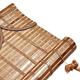 JIANFEI-Bambusrollo raffrollo Anti-Sonne Trennwand Vorhang Anti-UV Rollo, 3 Farben, 23 Größen Anpassbar (Farbe : 1#, größe : 135x225cm)