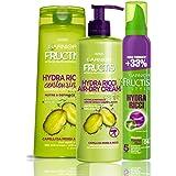 Garnier Fructis Hydra Ricci Kit con Shampoo, Trattamento e Mousse Styling per Definire i Capelli Ricci