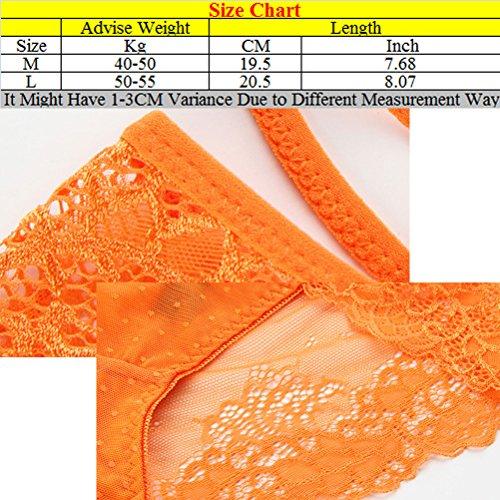 Zhuhaitf High Quality Women's Fashion Lingerie Comfortable Cross Transparent Low Waist Lace Tempting Underwear für Frauen Purple