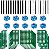 Anpro 20Stk 5x7 4x6 3x7 2x8CM Double Side Lochrasterplatte Lochrasterplatine Leiterplatte Platine PCB Universal Board Screw Terminal