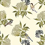 Designer Polster, Vorhang Nähen, Stoff-Vogel auf Holunderblüte,