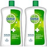 Dettol Liquid Handwash Refill Bottle - Original Germ Protection Hand Wash , 900 ml (Pack of 2) | Antibacterial Formula | 10x