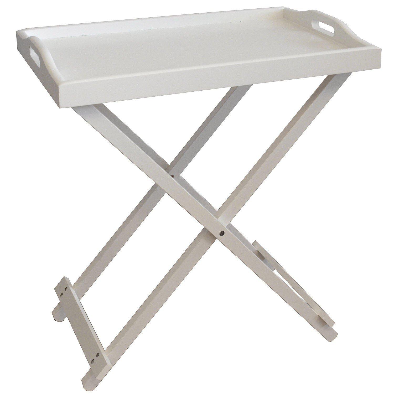 relaxdays serving tray wood white 56 x 35 x 63 cm amazoncouk kitchen u0026 home