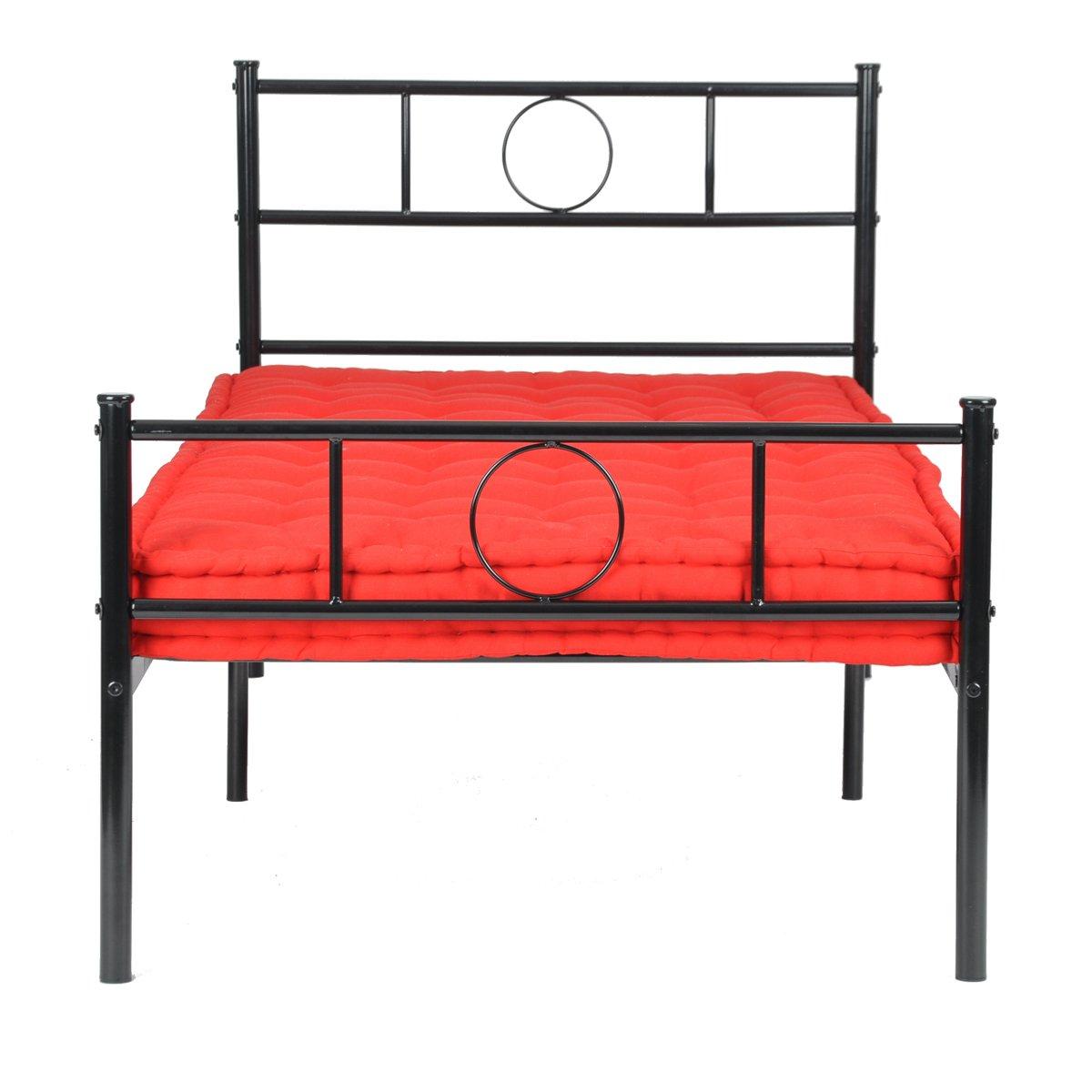 Einzelner Metallbettrahmen Tagesbett Gastbettrahmen Sofabett für ...