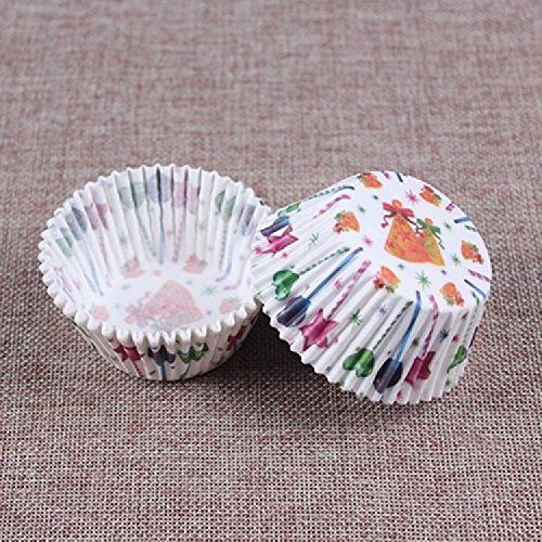 K&C Mini Cupcake Liner Standard Runde Cupcake Muffin Backen Cup Kuchen Papier Weiß