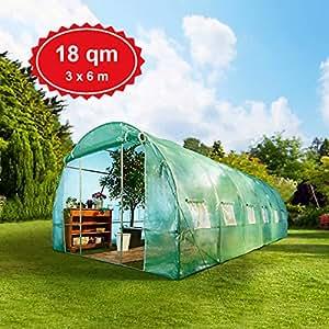 gew chshaus 18m mit stahlfundament treibhaus tomatenhaus pflanzenhaus foliengew chshaus 3x6m. Black Bedroom Furniture Sets. Home Design Ideas