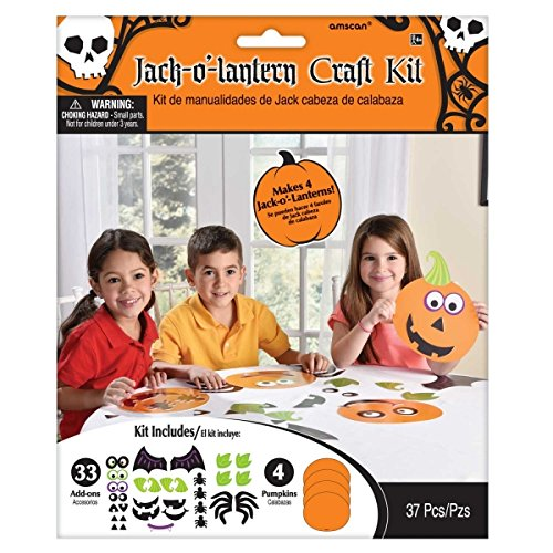 Amscan Jack O Lantern Halloween Handwerk Set zum Stelle her 4 Pumpkins