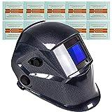 awm® WH02C Automatik Schweißhelm + 10x Ersatzgläser Schweißschirm Carbon Schweißmaske Solar...