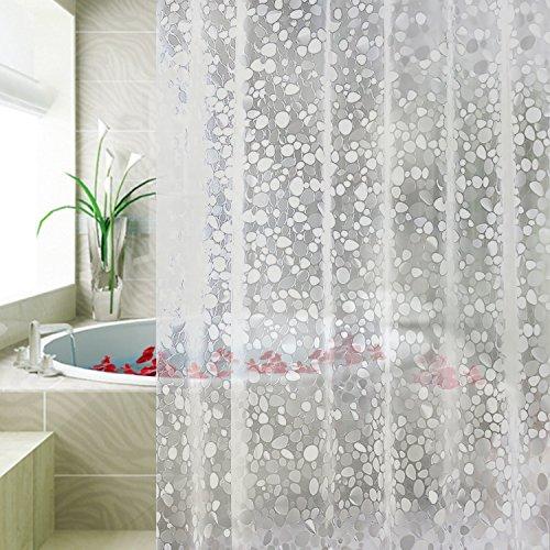 duschvorhang vinyl Carttiya Duschvorhang Anti Schimmel, Eva Badewanne Vorhang 180x180 cm, Antibakteriell,Wasserdicht undmit 12 Ringe,Weiß