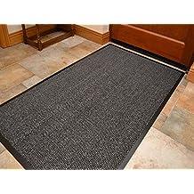Think Louder Outdoor Tapis de sol en caoutchouc antidérapant, barrière d'entrée maison, cuisine, bureau, porte dans toutes les couleurs et tailles 40x 60/60x 90/60x 180/90x 150/120x 180 80X140 CM gris