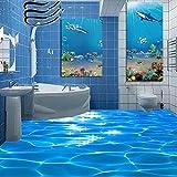 Chlwx 3d tapete 200cmX150cm (78.7inX55.20in) Foto Stock Wallpaper 3D Meer Wasser Wellen Hotel Bad Wandbild Pvc Selbstklebend Wasserdichter Boden Tapeten