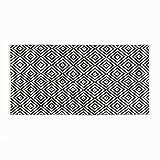 Black Velvet Studio TeppichKenyaFarbeSchwarz/Beige.Geknüpft,mitGeometrischemMuster,100%Baumwolle150x75cm