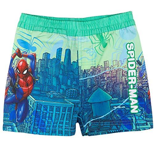 Spiderman - Bañador - para niño Verde Verde 7-8 años