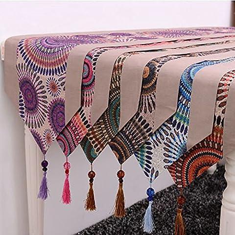 Lujo y extravagancia indicador de tabla en el sudeste de Asia Nordic high-end que garantizan calidad plank bordado floral bandera cama , elementos de moda Kit caja de toallas de papel , el rojo