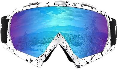 Xian Ju Skibrille Snowboard Brille, ÜBer Schneebrille, Antifog, UV400 Schutz, BelüFtete Ski- und Snowboardbrille | Komfortabel, Bruchsicher FüR Skier, Motorschlitten und Snowboards