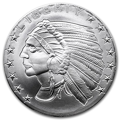 American Indian Chief 1oz Silver Round (Native American Hochzeit)