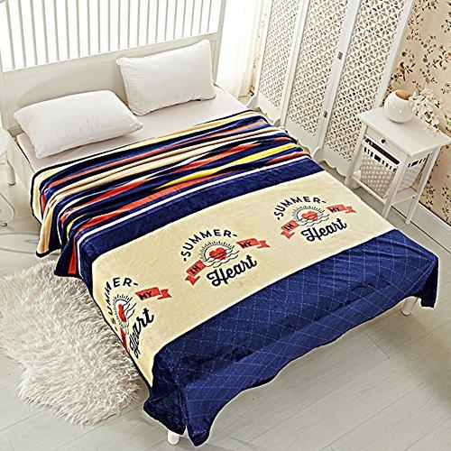 shinemoon Unltra Weich Mehrfarbig Unisex-Erwachsene Kinder Schlafzimmer Decke/Überwurf Einzelbett Doppelbett Sofa Bezüge Warm, 100 % Polyester, Multicolor Stripes, 230x250cm