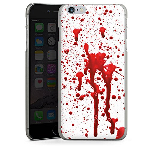 Apple iPhone X Silikon Hülle Case Schutzhülle Blut Halloween Gothic Hard Case anthrazit-klar